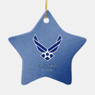 U.S. Ornamento cerâmico do veterano da força aérea