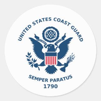U S Parada da guarda costeira Adesivos