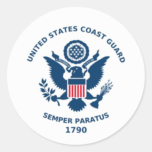 U.S. Parada da guarda costeira Adesivos Em Formato Redondos