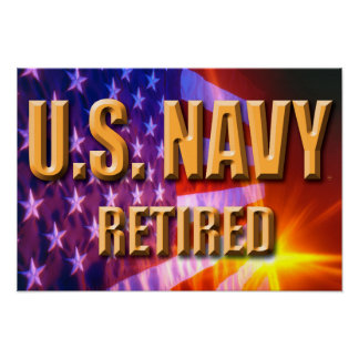 U.S. Poster aposentado marinho