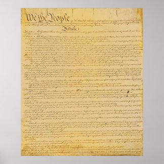 U.S. Poster da constituição Pôster