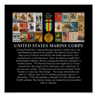 U.S. Posters de recrutamento da guerra mundial 1 d