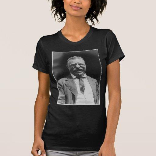 U.S. Riso do presidente Theodore Teddy Roosevelt Camisetas