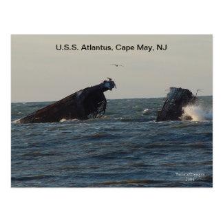 U.S.S. Navio de Atlantus, cartão de New-jersey