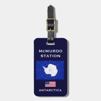 U.S. - Tag antárctico da bagagem da estação de Tag De Bagagem