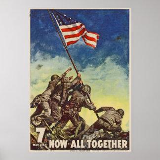 """U.S. Vintage """"agora todos do Corpo do Marines junt Pôster"""