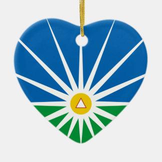 Uberlandia Minasgerais bandeira de Brasil, Brasil Ornamento De Cerâmica Coração