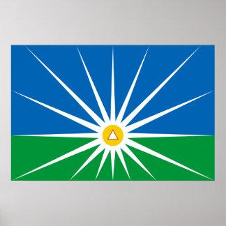 Uberlandia Minasgerais bandeira de Brasil Brasil Pôsteres