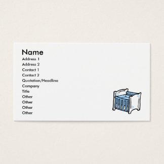 ucha azul cartão de visitas