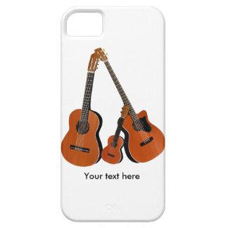 Ukulele da guitarra acústica e baixo acústico capa barely there para iPhone 5