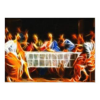 Última ceia do Jesus Cristo Convite 12.7 X 17.78cm