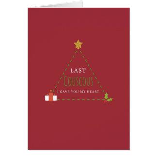 Último cartão de Natal do cuscuz