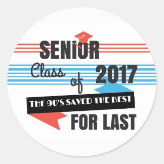 Último dos mais velho 2017 das etiquetas dos anos