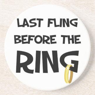 Último Fling antes das portas copos do anel Porta Copos De Arenito