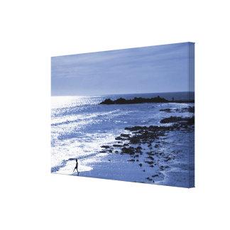 Último mergulho do dia impressão em canvas