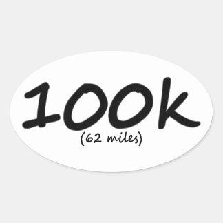 Ultra etiquetas ovais 4 da maratona 100k por a