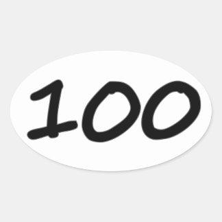 Ultra etiquetas ovais 4 do miler da maratona 100