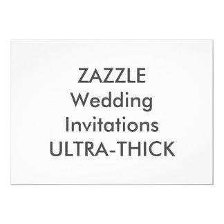 """ULTRA-THICK 7"""" x 5"""" convites do casamento"""