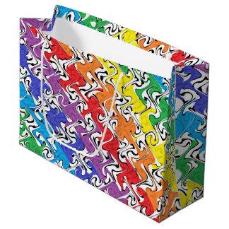 Um abstrato colorido sacola para presentes grande