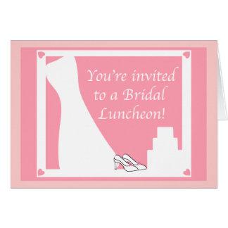 Um almoço nupcial cartão comemorativo