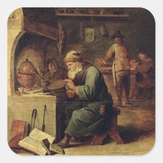 Um alquimista adesivo quadrado