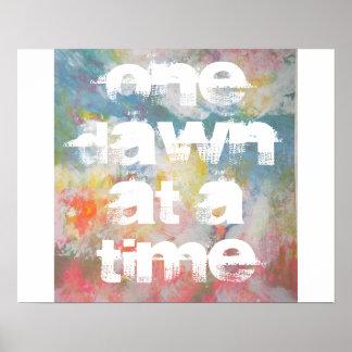 Um alvorecer em uma arte abstracta do tempo posters