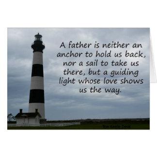 Um amor de pais mostra-nos a maneira cartão comemorativo