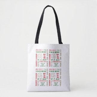 Um anfitrião da sacola do Natal dos desejos Bolsa Tote