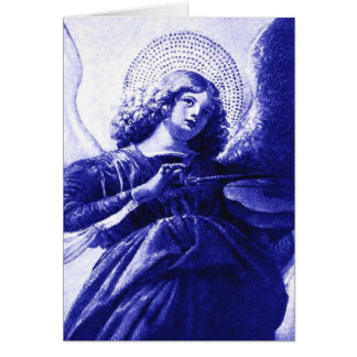 Um anjo cartão comemorativo