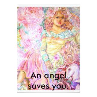 Um anjo da tulipa., um anjo salvar o convite 12.7 x 17.78cm
