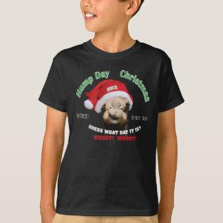 Um ano 2013 do Natal do dia de corcunda Camiseta