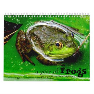 Um ano de calendário dos sapos calendário