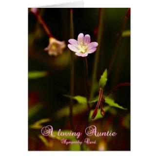 Um Auntie loving, cartão de simpatia