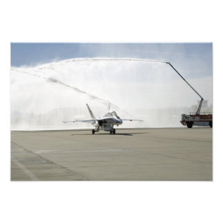 Um avião F-18 Arte De Fotos