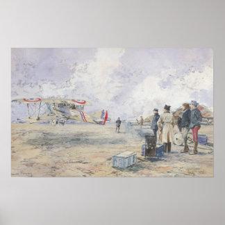 Um avião que descola, 1913 posteres