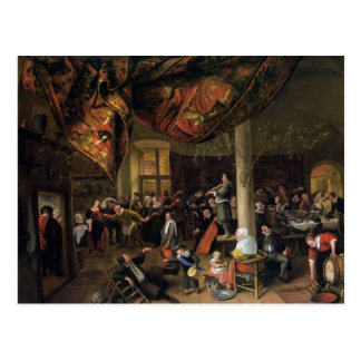 Um banquete do casamento da vila, foliões daqui at cartão postal