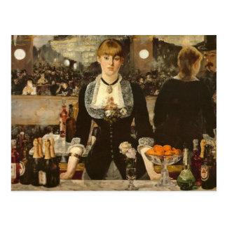 Um bar no Folies-Bergere Cartão Postal