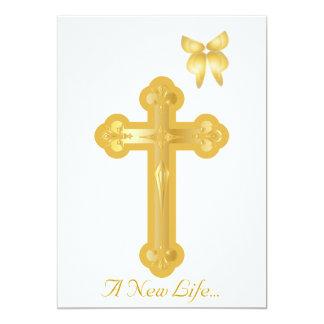 Um batismo novo da vida Convite-Personaliza Convite 12.7 X 17.78cm
