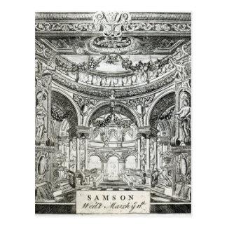 Um bilhete da admissão para o oratório de Handel Cartão Postal