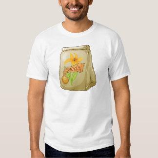 Um bloco de sementes de flor camisetas