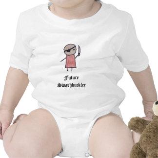 Um bodysuit pequeno do bebê do pirata macacãozinho