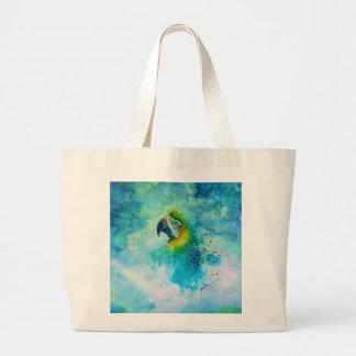 Um bolsa enorme com um design da natureza
