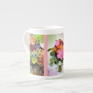 Um buquê do casamento do verão xícara de chá