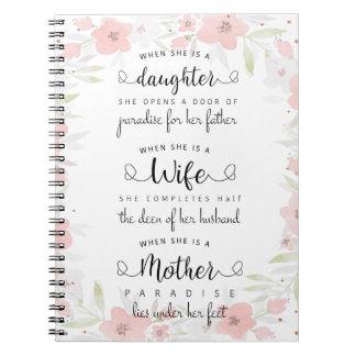 Um caderno bonito do provérbio!