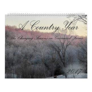 Um calendário do ano 2017 do país