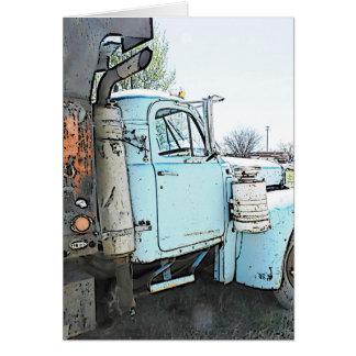 Um caminhão velho cartão comemorativo
