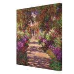 Um caminho no Jardim de Monet, Giverny, 1902 Impressão De Canvas Esticada