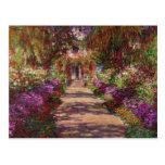 Um caminho no Jardim de Monet, Giverny, 1902 Cartoes Postais