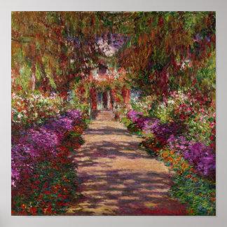 Um caminho no Jardim de Monet, Giverny, 1902 Posters