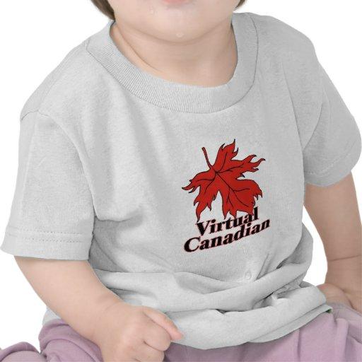 Um canadense virtual camiseta